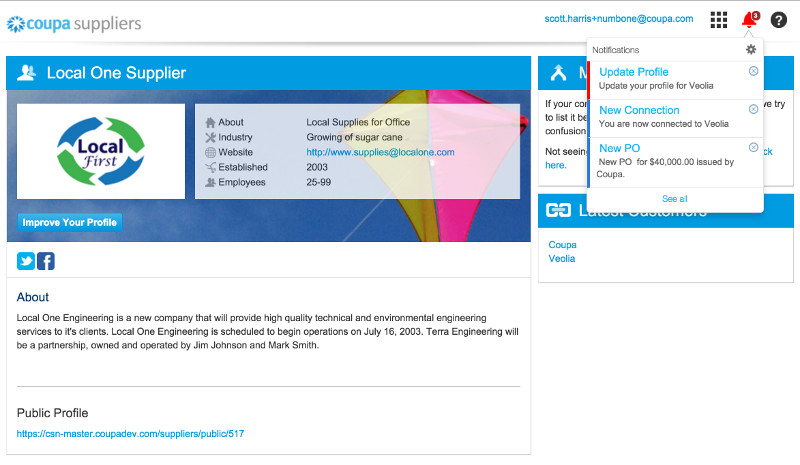 Supplier Information Management | Supplier Management