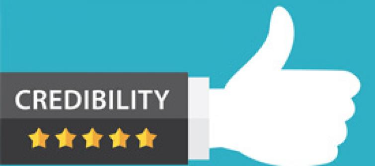 Credibility with Five Stars and a Thumbs Up