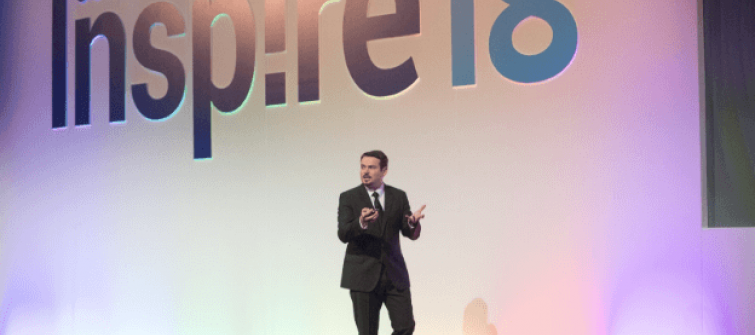 Image of a speaker on stage at Coupa EMEA Inspire 2018