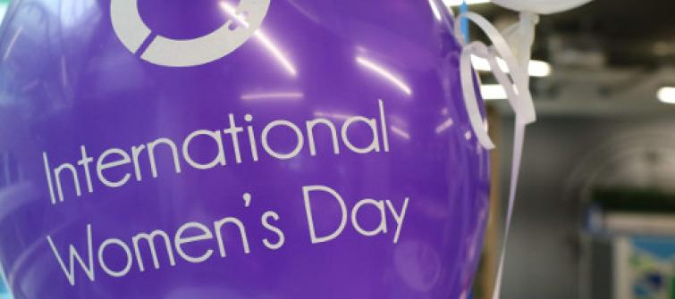 International Women's Day 2018 balloon.