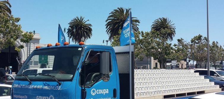 Coupa truck at Coupa Inspire.