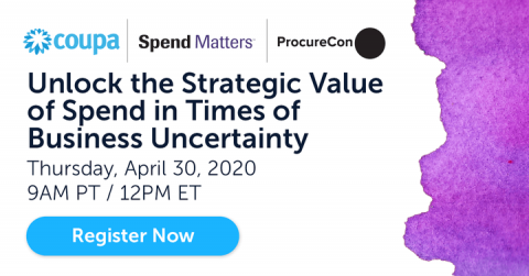 Register Now for Coupa Spend Matters ProcureCon